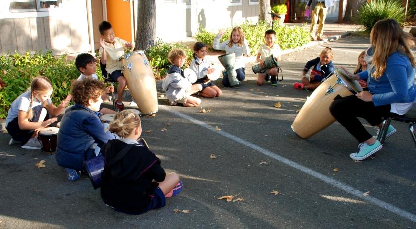 2nd Grade Drum Circle